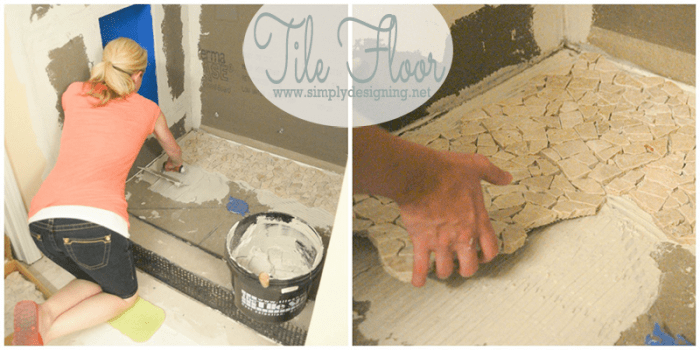 Tile Shower Floor -Come see how simple it is to tile a shower to create a custom and unique look in your own home while saving a lot of money by doing it yourself!