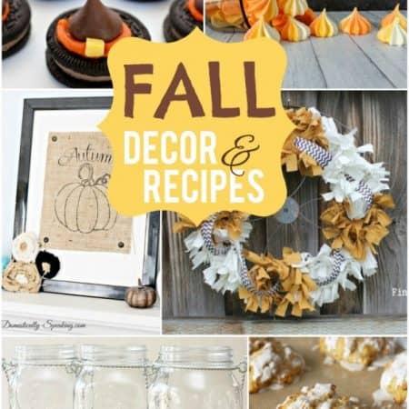 Fall Decor & Recipes | #fall #decor #recipes #falldecor