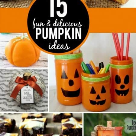 15 Fun Pumpkin Ideas   #fall #halloween #crafts #recipes #pumpkin