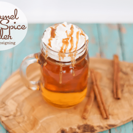 Caramel Apple Spice Cider #recipe #drinks #fall