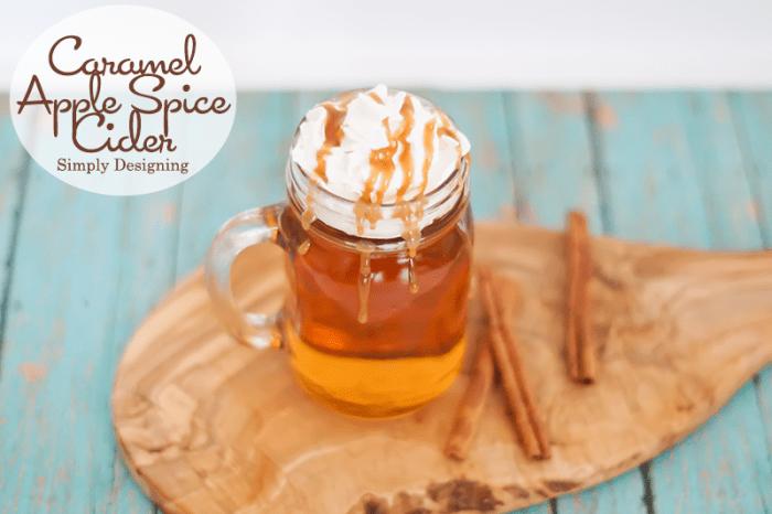 Caramel Apple Spice Cider #recipe #drinks #fall