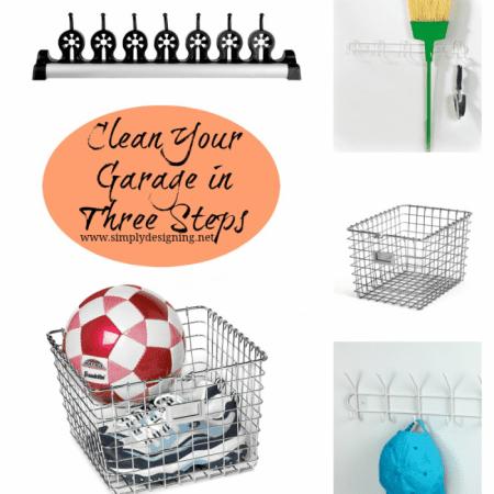 Clean Your Garage in Three Steps #cleaning #organizing #storage #garage