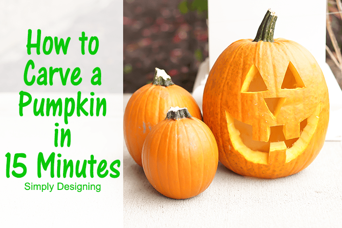 How to Carve a Pumpkin in 15 Minutes