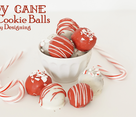 Candy Cane OREO Cookie Balls