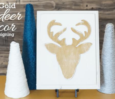 Gold Reindeer Decor