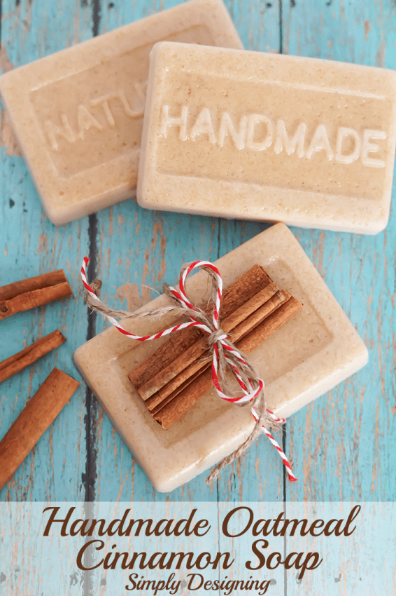 Here's how to make soap, it's really fun and easy. This recipe is made with Cinnamon and Oatmeal - perfect for the holidays - but you can substitute any scent you wish for the cinnamon to make it perfect for you.