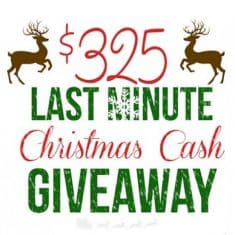 Last Minute Christmas Cash Giveaway