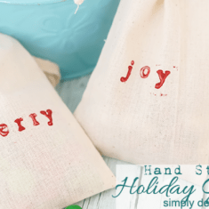 Hand Stamped Holiday Gift Bag Featured Image