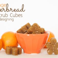 Orange Gingerbread Sugar Scrub Cubes Featured Image