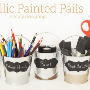 Metallic Painted Pails Featured Image