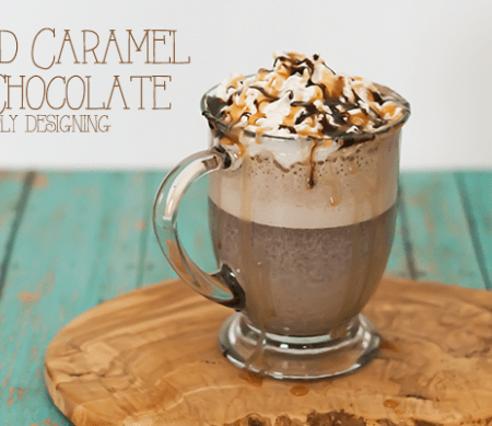 The Best Salted Caramel Hot Chocolate
