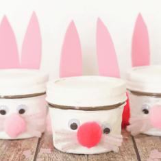 Bunny Jar Kids Craft Featured Image