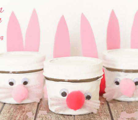 Bunny Jar Kids Craft Featured Image