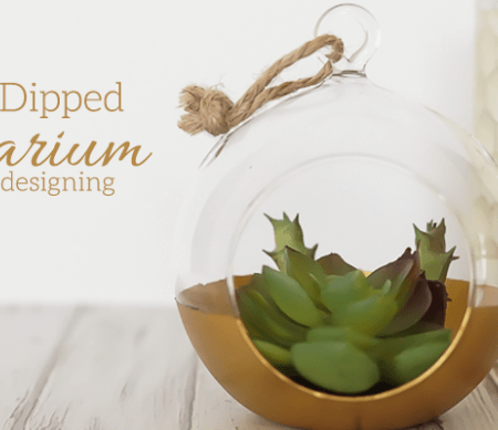 DIY Gold Dipped Terrarium featured image