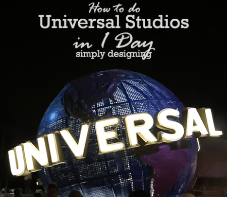 How to do Universal Studios in 1 Day