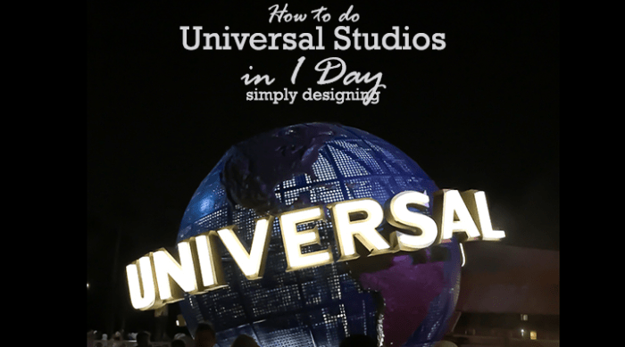How to do Universal Studios in 1 Day with young children