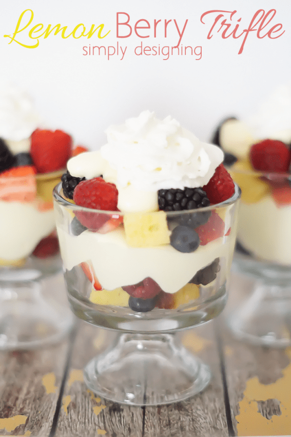 Lemon Berry Trifle - one of my favorite desserts
