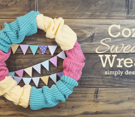 Simple and Pretty Cozy Sweater Wreath