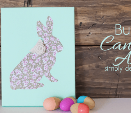 DIY Bunny Canvas Art Featured Image