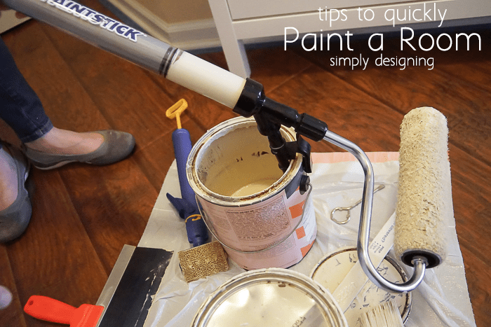 using an EZ-Twist PaintStick to pull up paint from a paint can