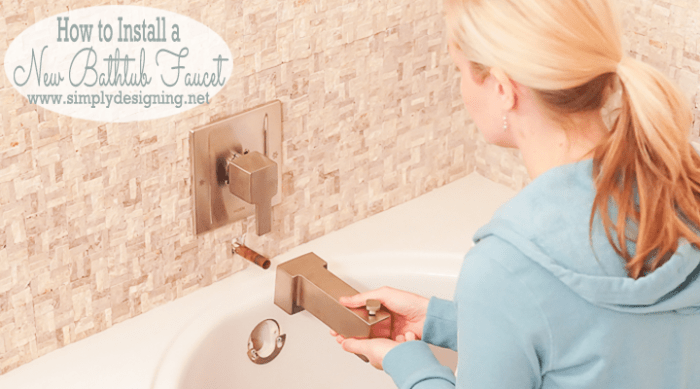 Master Bathroom Remodel Part 10 How To Install A Bathtub Faucet