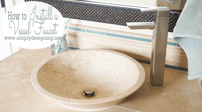 Master bathroom remodel part 11 how to install a vessel for How to install vessel sink