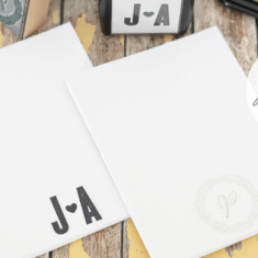 How to make Tearable Monogram Notepad