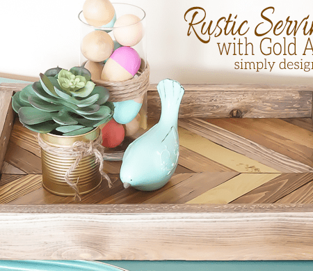 Rustic Serving Tray with Gold Arrow Featured Image