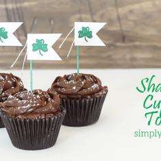 Shamrock Cupcake Topper and Mini Garland - featured image