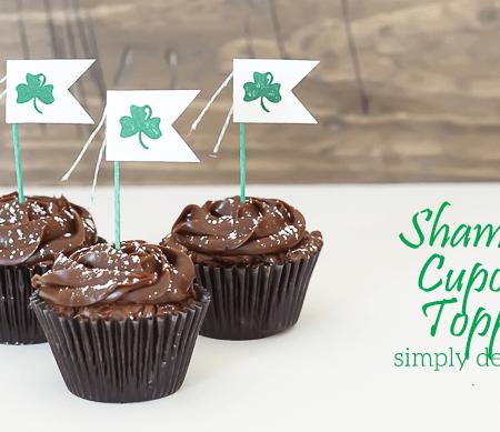 Shamrock Cupcake Topper and Mini Garland