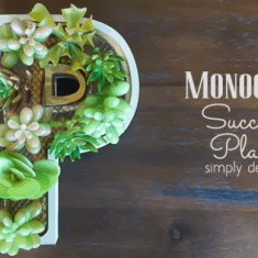 Monogram Succulent Planter featured image