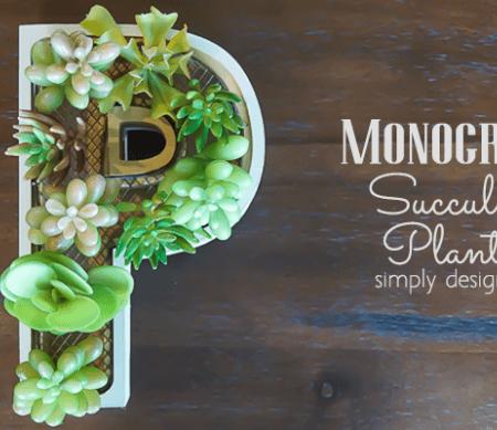 Monogram Succulent Planter featured image