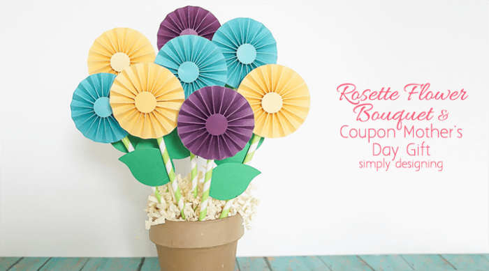 Mother's Day Gift: Coupon Rosette Flowers