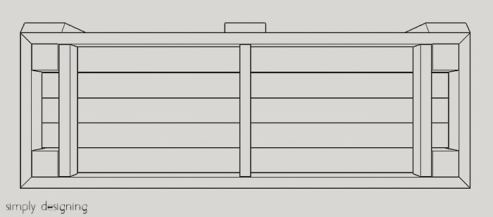 Porch Swing Plans and measurements to build a porch swing