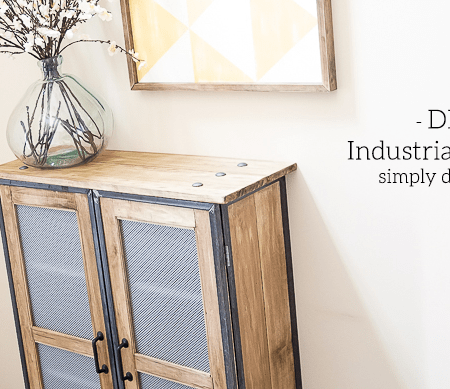 DIY Industrial Cabinet Hack - featured image