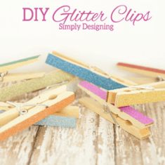 Glitter DIY Chip Clips