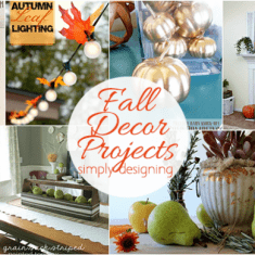 Fall Home Decor Project Ideas