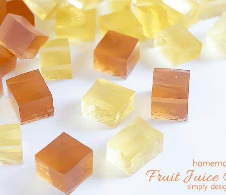 Homemade Fruit Juice Gummies
