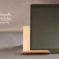 Brushed Metallic Rose Gold DIY iPad Holder