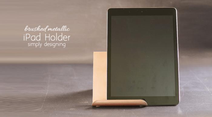 Brushed Metallic Rose Gold DIY iPad Holder