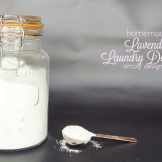 Lavender Scented Homemade Laundry Detergent Recipe