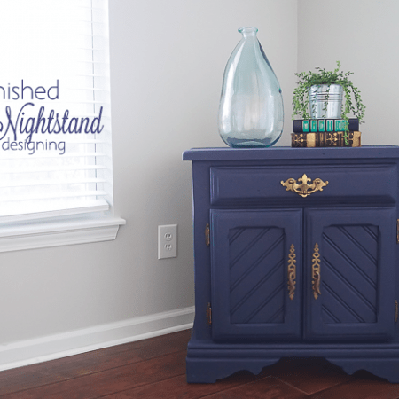 Navy Refinished Nightstand