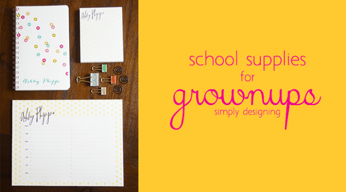 Back to School Supplies for Grownups