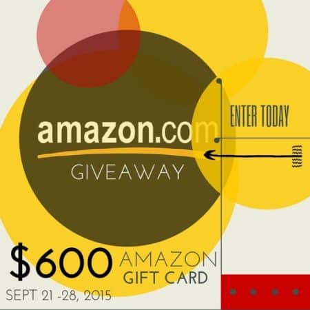 $600 Amazon Giveaway from Top Bloggers