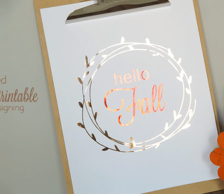 hello FALL printable - a fun way to decorate your home this fall with this free fall printable