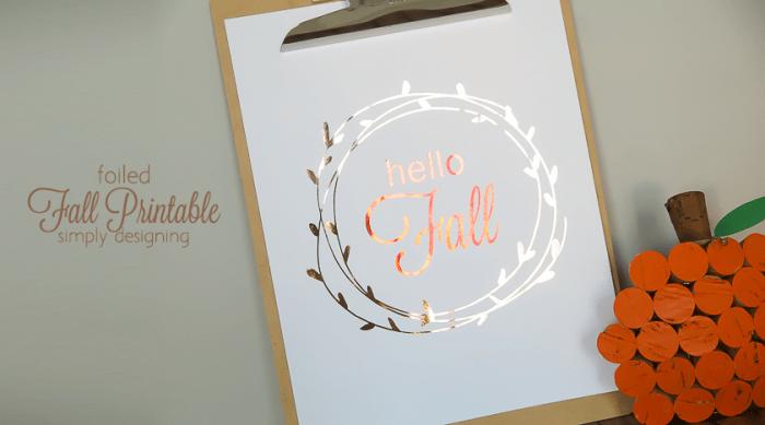 hello FALL printable - a fun way to decorate your home this fall with this free fall printable