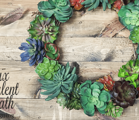 Faux Succulent Wreath [Pottery Barn Knock-Off]