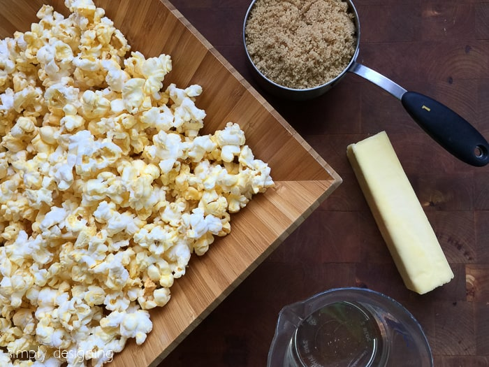 gooey caramel popcorn ingredients