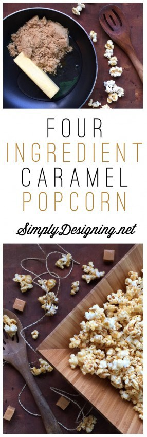 Easy Caramel Popcorn Recipe - this is so easy to make and ooey-gooey delicious