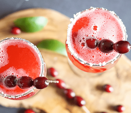 Cranberry Lime Mocktail